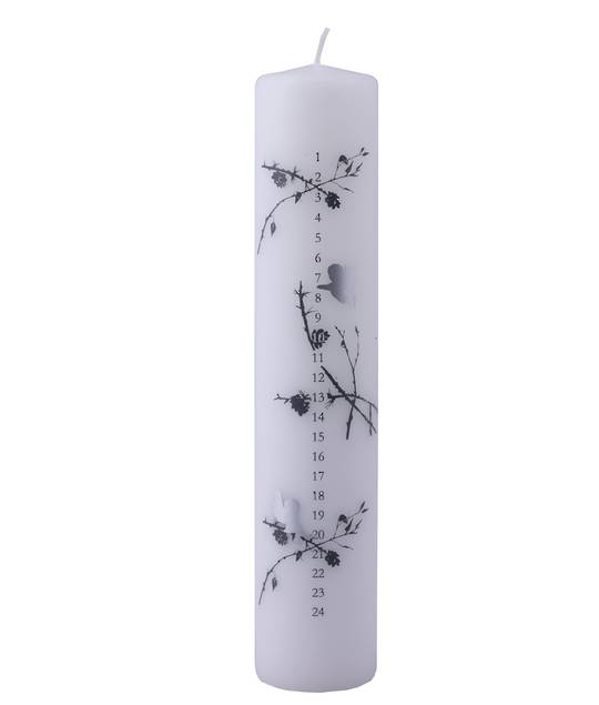 Advent Pillar Candle, Cupids and Branches SOLD OUT