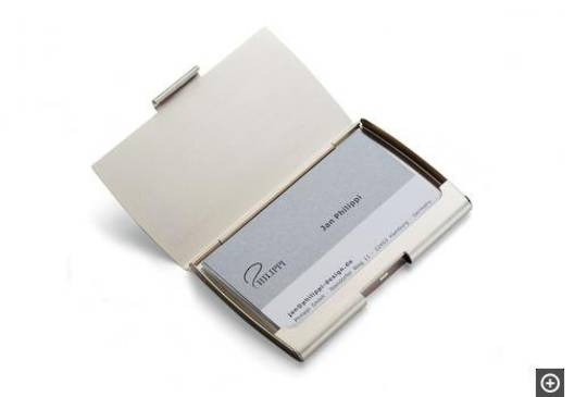 Corporate. Kono Brushed Metal Business Card Holder