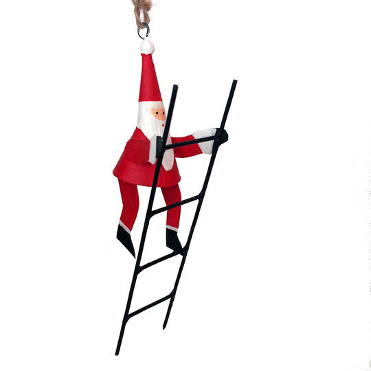 Mini Santa Climbing Ladder