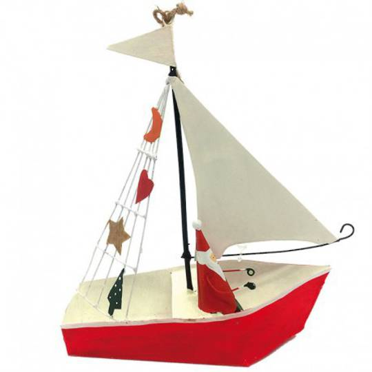 Tin Santa in Sailing Boat
