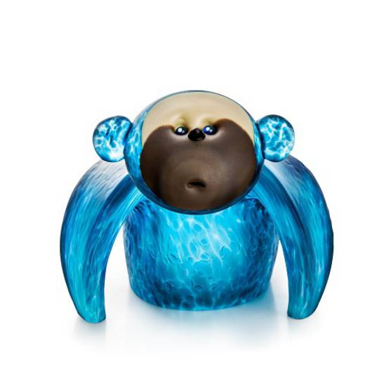 Artglass Monkey Object Large Blue
