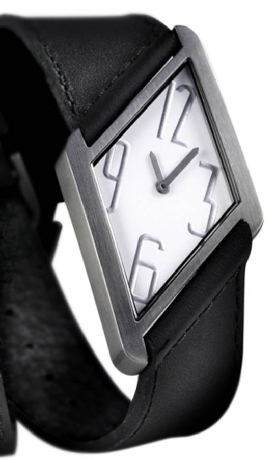 Pierre Junod Losange Watch White Dial Black Strap