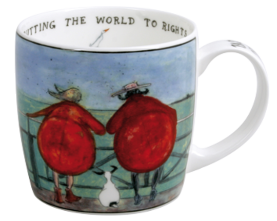 Sam Toft Mug, Putting the World to Rights