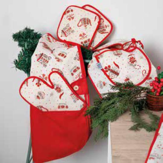 Christmas Tea Story Design Waist Apron