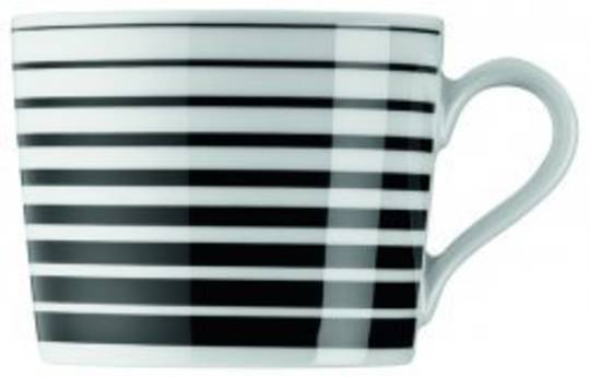 Arzberg Tric Straight Black Coffee Cup & Saucer