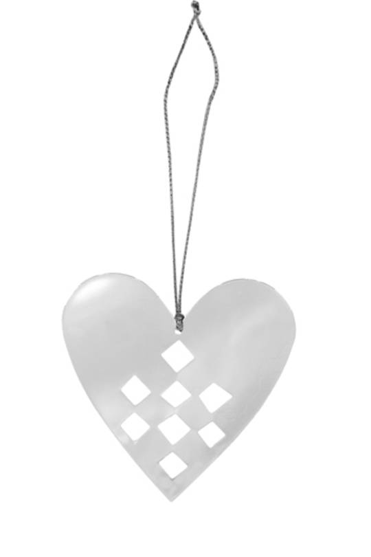Flat Metal Decoration Heart 70x75mm