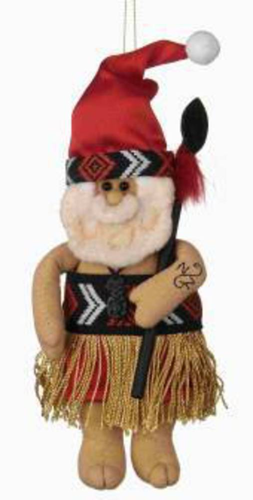 Iconic Hanging Fabric Maori Santa