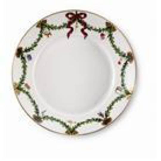 StarFluted Christmas Deep Plate, Small