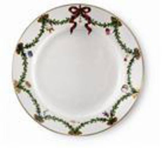StarFluted Christmas Bread Plate