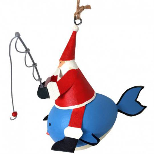 Santa Fishing on Whale