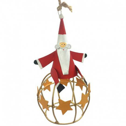 Tin Santa on Star Globe