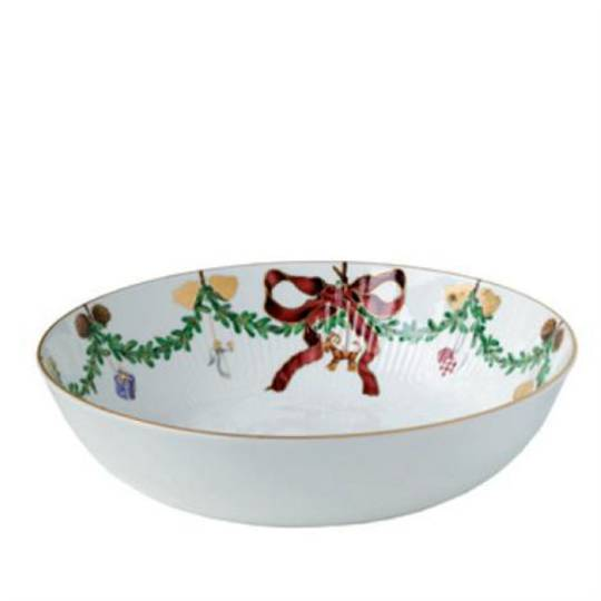 StarFluted Christmas Serving Bowl